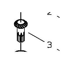 Pignone per attacco Tosasiepi AH230