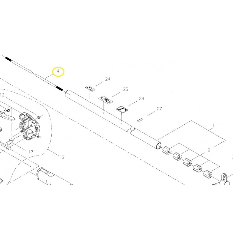 Albero Trasmissione Decespugliatore T242XS/T230/T243