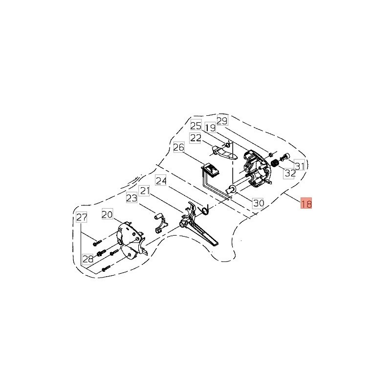 ACCELERATORE COMPLETO DECESPUGLIATORE SHINDAIWA BP45