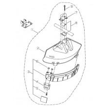 Parasassi decespugliatore Shindaiwa COMPLETO SBAT230/T230/T2500/T260 T.N.